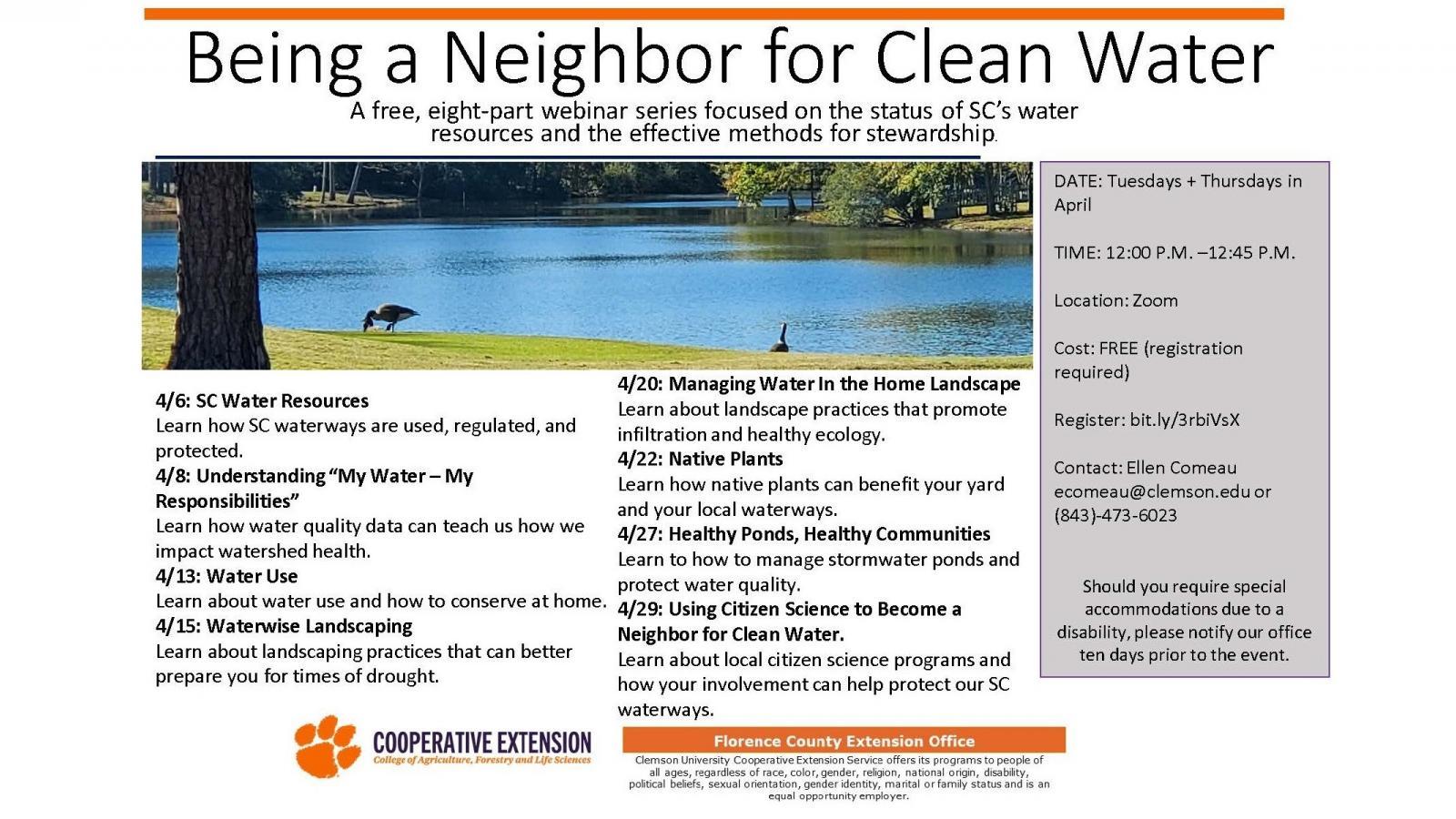 Neighbor for Clean Water Webinar